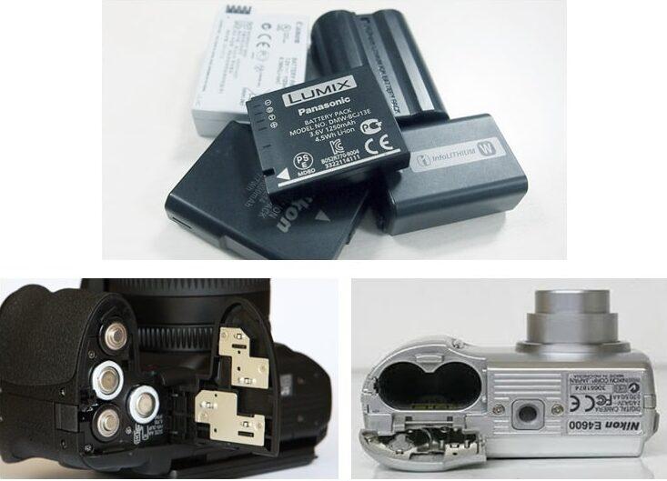 جایگاه باتری در دوربین دیجیتال عکاسی