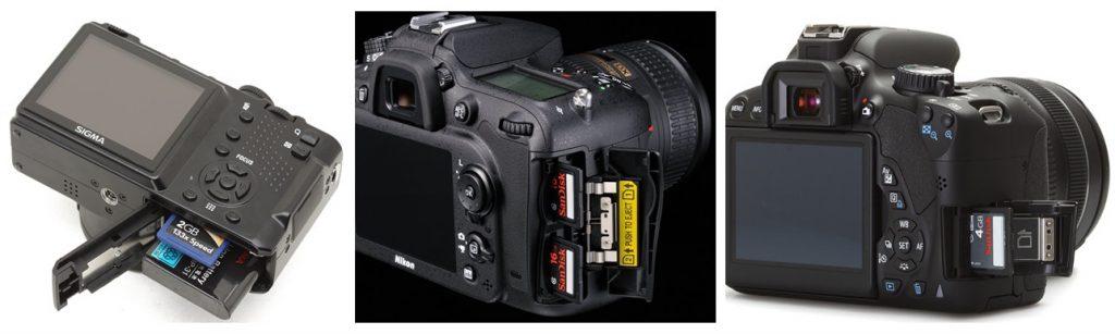 جایگاه کارت حافظه دوربین دیجیتال