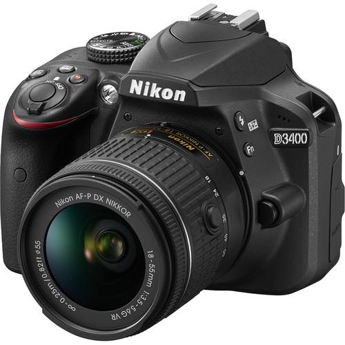 دوربین عکاسی نیکون Nikon D3400 همراه لنز نیکون AF-P 18-55mm
