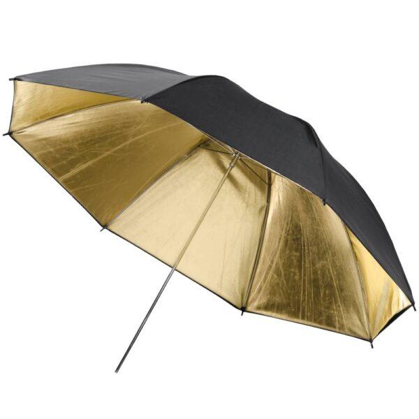 چتر عکاسی داخل طلایی بیرون مشکی