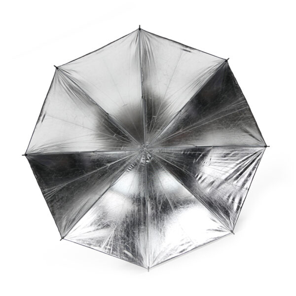 چتر عکاسی داخل نقره ای بیرون مشکی