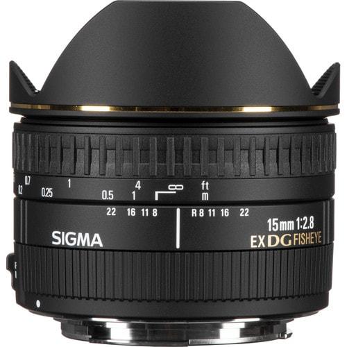 لنز سیگما Sigma 15mm f/2.8 EX DG Diagonal Fisheye برای کانن