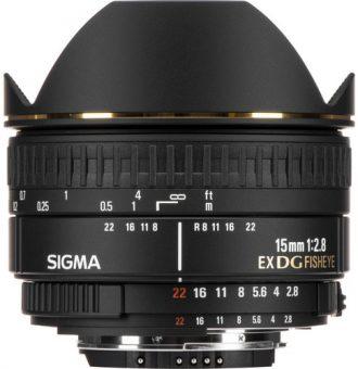 لنز سیگما Sigma 15mm f/2.8 EX DG Diagonal Fisheye برای نیکون