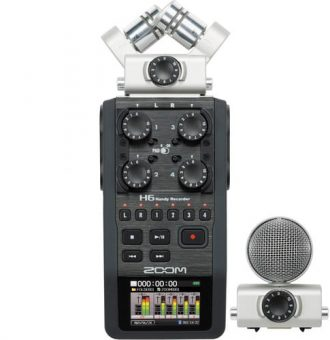 رکوردر صدا زوم Zoom H6 Handy Recorder with Microphone