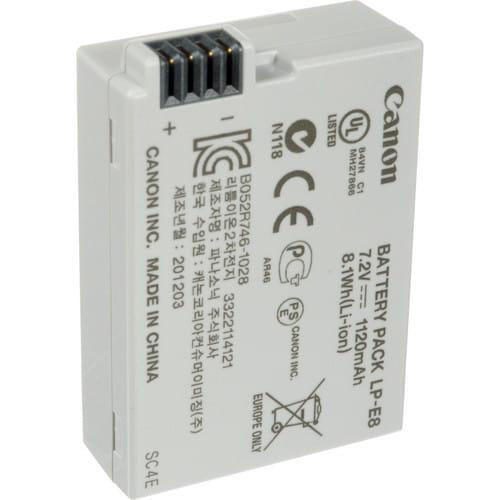 باتری دوربین کانن Canon LP-E8 اورجینال
