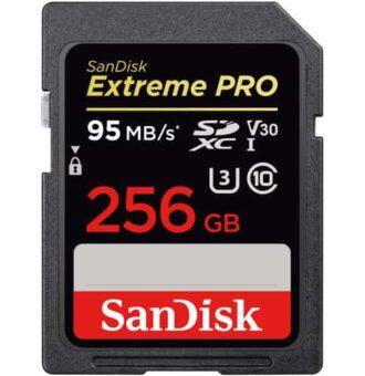 کارت حافظه سن دیسک SanDisk SD 256GB Extreme PRO UHS-I 95mb