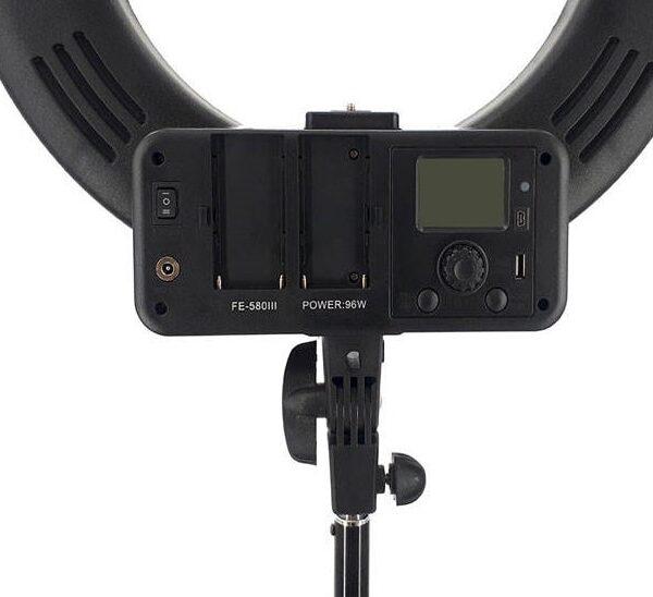 رينگ لايت عکاسی Ring Light FE-580 III + سه پايه نور ايلکين ILKeen iA 260L