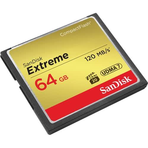 کارت حافظه سن دیسک SanDisk CF 64GB Extreme 800X 120mb