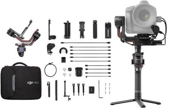 لرزشگیر دوربین DJI RS 2 Gimbal Stabilizer Pro Combo