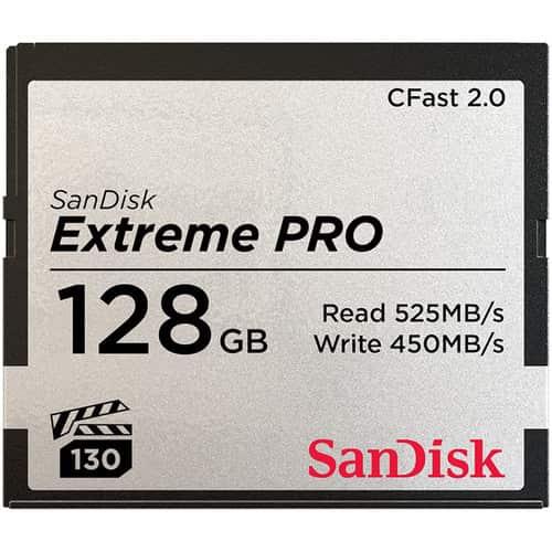 کارت حافظه سن دیسک SanDisk 128GB Extreme PRO CFast 3500X 525mb