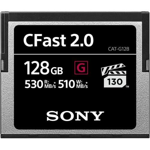کارت حافظه سونی Sony 128GB CFast 2.0 G Series 3500X 530mb