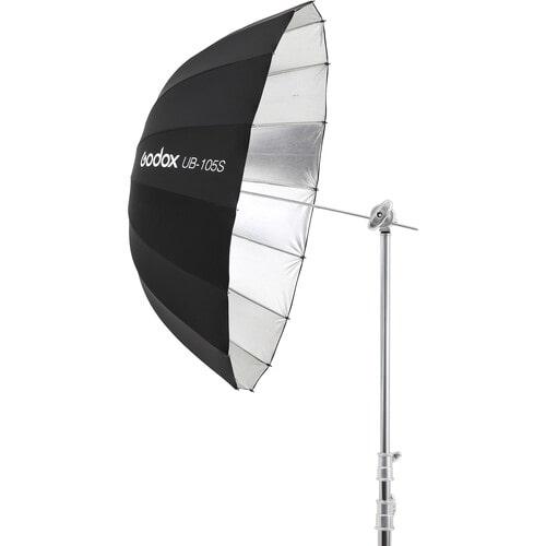 چتر عکاسی داخل نقره ای بیرون مشکی عمیق گودکس Godox UB-105S Parabolic