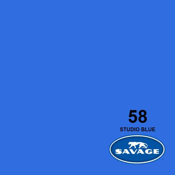 فون کاغذی سوج آبی استودیویی Savage Widetone Seamless #58 Studio Blue