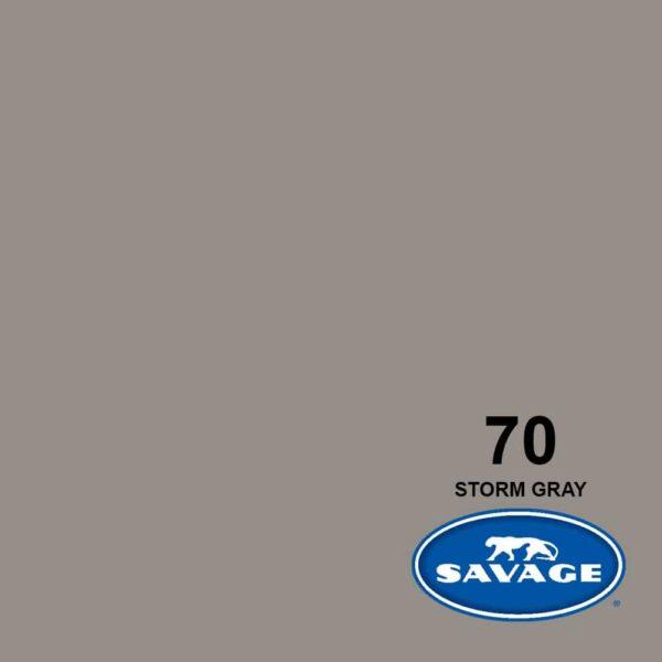 فون کاغذی سوج خاکستری Savage Widetone Seamless #70 Storm Gray