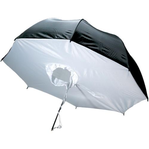 چتر هیزی سفید/مشکی S&S S42 100cm